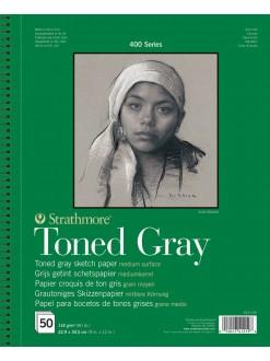 Strathmore Toned Gray,22,9x30,5, 50l, šedý v kroužkové vazbě, 118g