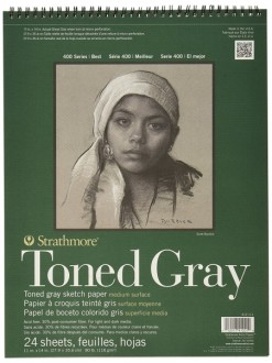 Strathmore Toned Gray pad 24 listů, 118g, 28x35 cm