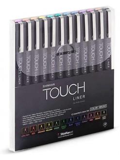 TOUCH - sada barevných brushů - 12 kusů