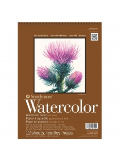 Strathmore watercolor pad wire 17,8x25,4 12 listů 300 g