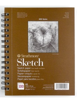 Strathmore Sketch A5 14.8x21 cm, kroužková vazba 100 listů