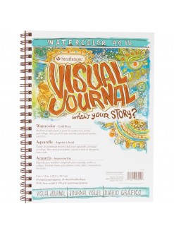 Strathmore watercolor Visual Journal 22,9x30,5 34 listů 190 g
