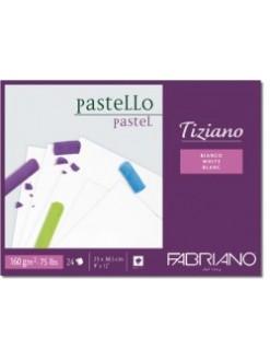 Fabriano Tiziano 23x30,5 cm, lepená vazba, 160g/m, 24 listů, blok na pastel bílý