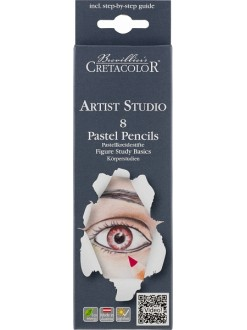 Cretacolor studio line pastel pencils set portrait