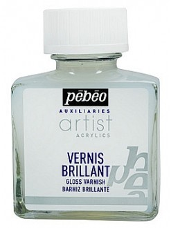Pébéo Lesklý malířský lak ředitelný vodou pro akryl. barvy 75 ml