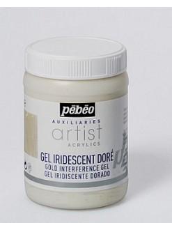 Pébéo iridescentní gel pro akrylové barvy 250 ml zlatý