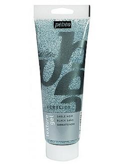 Pébéo studio pískový gel černý pro akrylové barvy 250 ml