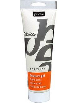 Pébéo studio pískový gel bílý pro akrylové barvy 250 ml