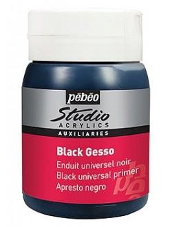 Pébéo Studio Gesso černé univerzální, akrylový šeps 500 ml