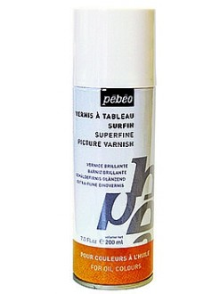 Pébéo Jemný lesklý malířský lak pro olej, 200 ml, sprej