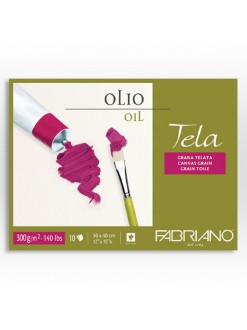 Fabriano Tela 24x32 cm, lepená vazba,300 g/m, 10 listů, blok pro olejové barvy
