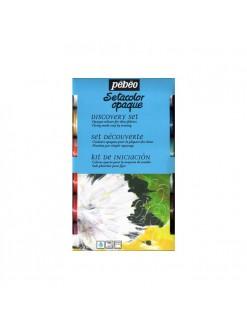 Pébeo sada Setacolor opaque - krycí barvy na textil 12 x 20 ml
