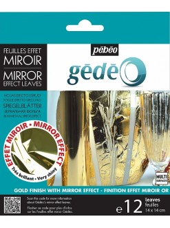 Gédéo gold effect mirror leaves 12 ks
