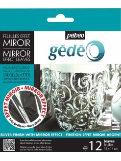 Gédéo silver effect mirror leaves 12 ks