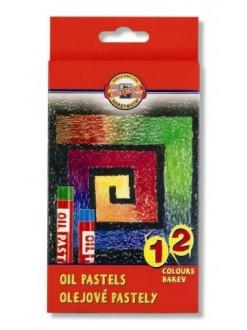 KOH-I-NOOR sada kříd olejových uměleckých 12 kusů