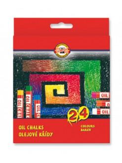 KOH-I-NOOR sada kříd olejových uměleckých 24 kusů