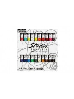 Studio Acrylic sada (20 × 20 ml + štetec)