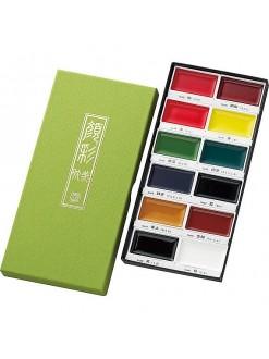 Akvarelov barvy sada Kuretake Gansai Tambi 12 ks