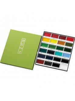 Akvarelová barva sada Kuretake Gansai Tambi 24 ks