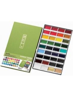 Akvarelová barva sada Gansai Tambi 36 ks