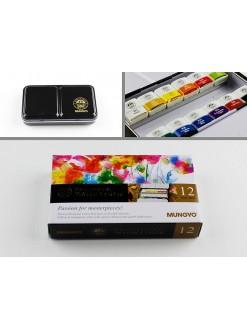 MUNGYO GALLERY PROFESSIONAL Akvarel.barvy 12druhů půl pánvičky