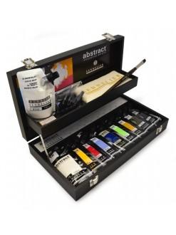 Sennelier abstract black box sada 9xbarva 120 ml + příslušenství