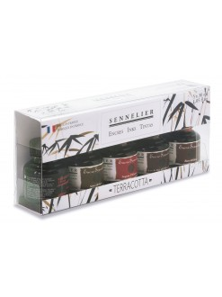 Sennelier Brown colour ink set 5 x 30 ml