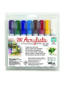 ZIG K Acrylista Chisel 6 mm Sada 8 barev B Kinder/Bas