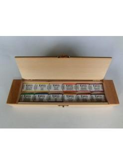 UMTON akvarel v dřevěné kazetě, 12x,3.5ml