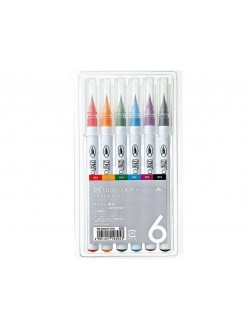Kuretake AC Clean Color Real Brush 6 sada