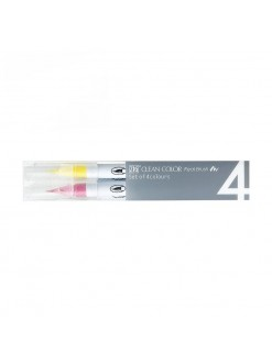 ZIG Kuretake Clean color Real Brush Pop Colours 4ks