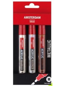 AMSTERDAM marker metal set 3 x 4mm
