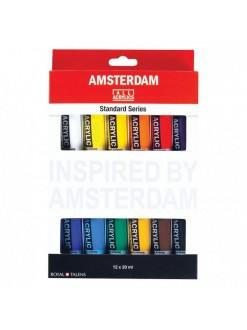 AMSTERDAM ový miniset - 12×20 ml, plastové tuby