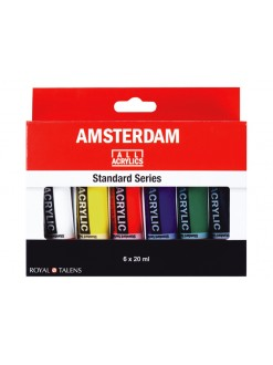 AMSTERDAM miniset - 6×20ml, plastové tuby