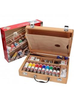 VAN GOGH kufříkový set akrylové barvy 10x40 ml + příslušenství