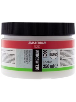 AMSTERDAM Akrylová barva gel pastózní lesk 250 ml