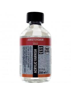 AMSTERDAM Lak na akrylové barvy, vysoce lesklý 250 ml