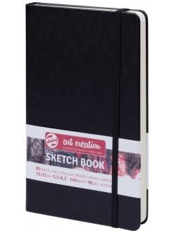 Artcreation sketch book 13x21 cm, 80 listů, 140g/m2, lepená vazba, tvrdé, černé desky