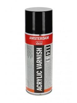 AMSTERDAM lak pro akrylové barvy, sprej, lesk, 400 ml
