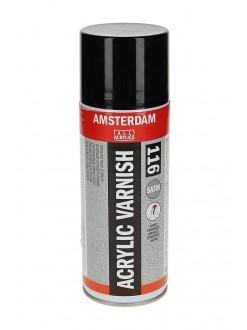 AMSTERDAM lak pro akrylové barvy, sprej, satén, 400 ml