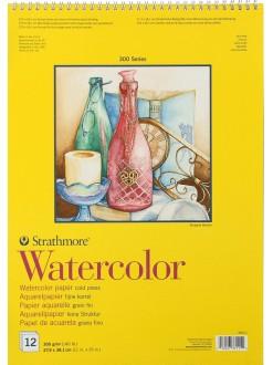 Strathmore Watercolor blok 12 listů, 300g, 27,9 x 38,1