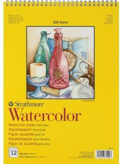 Strathmore WATERCOLOR blok 12 listů, 300g, 22,9x30,5 cm