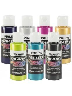Createx airbrushové barvy perleťové 60 ml