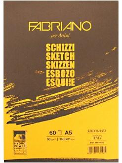 Fabriano Schizzi blok pro suché techniky, 90g/m2, lepená vazba - různé rozměry