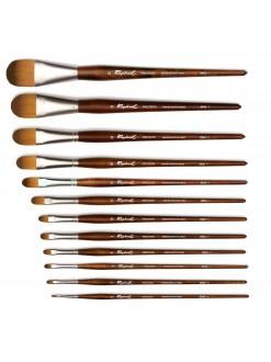 Štětec Raphael Precision acrylic and oil filbert flat brush