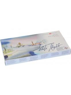 WHITE NIGHTS akvarelový set, 36 barev v plastovém boxu